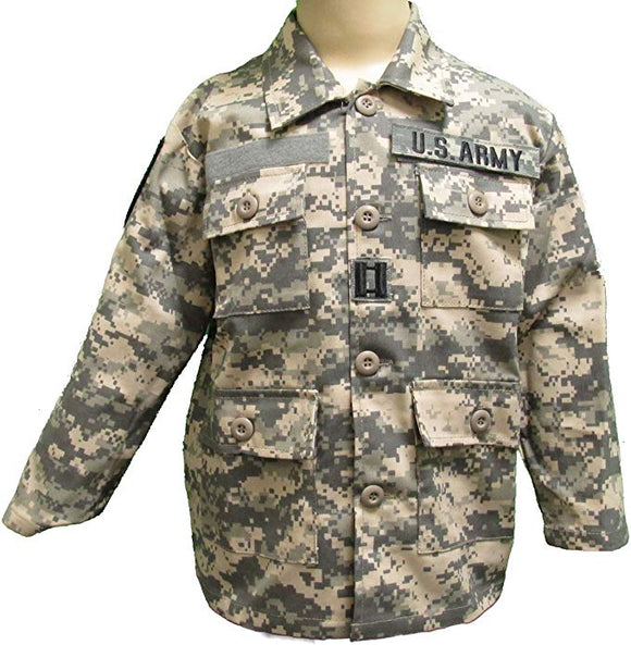 Kid's Army Jacket with Authentic Patches - ACU Camo