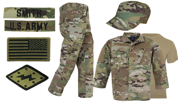 Kids OCP Uniform Package with Name Tapes - OCP Multicam