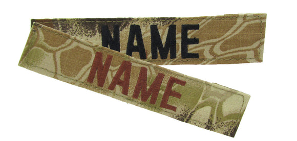 Kryptek Highlander Name Tape with Hook Fastener - Fabric Material