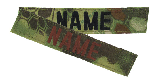 Kryptek Mandrake Name Tape with Hook Fastener - Fabric Material