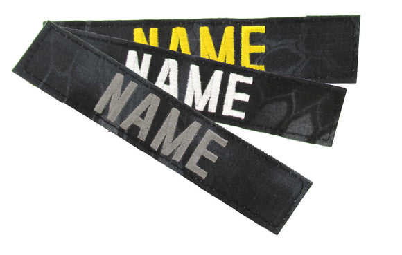 Kryptek Typhon Name Tape with Hook Fastener - Fabric Material