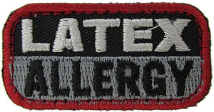 LATEX ALLERGY Patch - BLACK