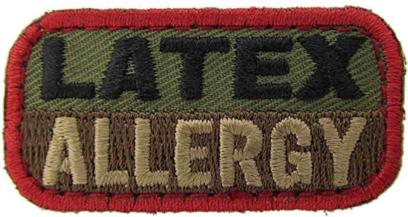 LATEX ALLERGY Patch - WOODLAND