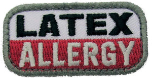 LATEX ALLERGY Patch - MEDICAL