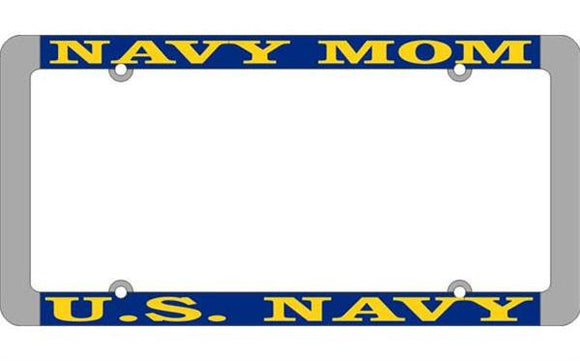 U.S. Navy Mom Thin Rim License Plate Frame
