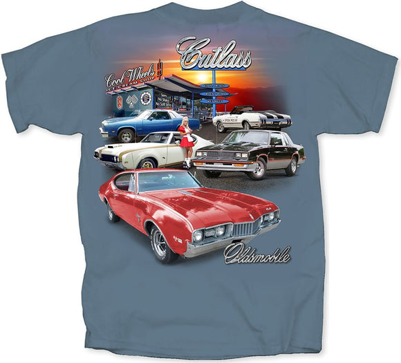 Oldsmobile Cutlass Multi Car Diner T-Shirt