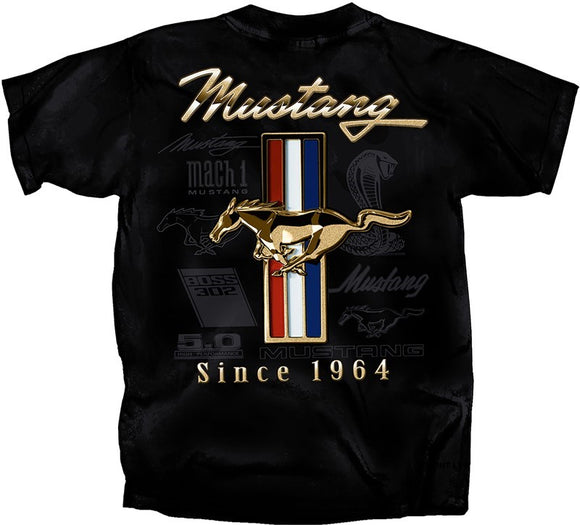 Ford Mustang Golden Tribar T-shirt