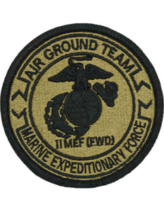 1st MEF Marine Expeditionary Force FWD OCP Patch - Air Ground Team is military spec with for the Multicam, OCP Operational Camouflage Pattern.