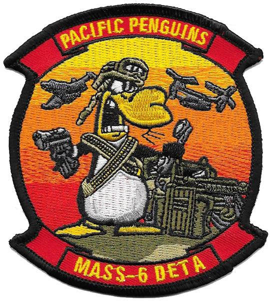 MASS-6 DETA Pacific Penguins USMC Patch - FULL COLOR