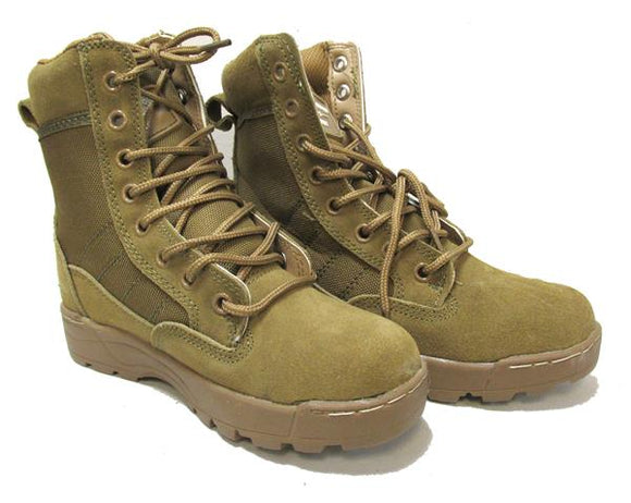 Kids Coyote Military Style Boots