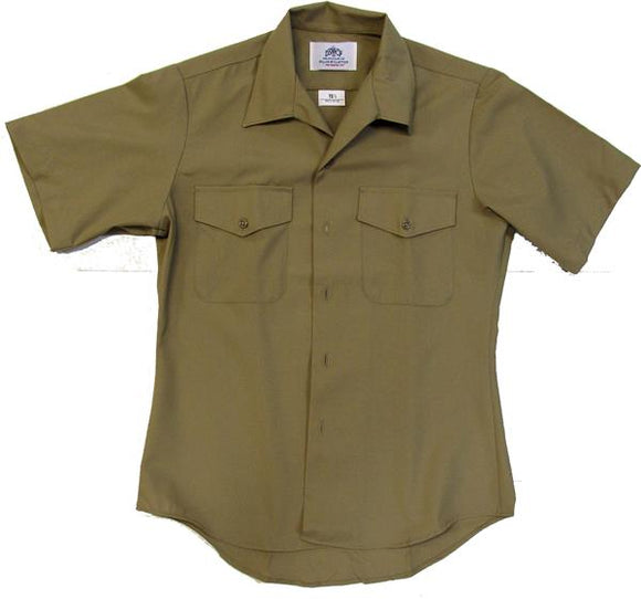 Men's U.S. Navy Military Shirt KHAKI - Short Sleeve