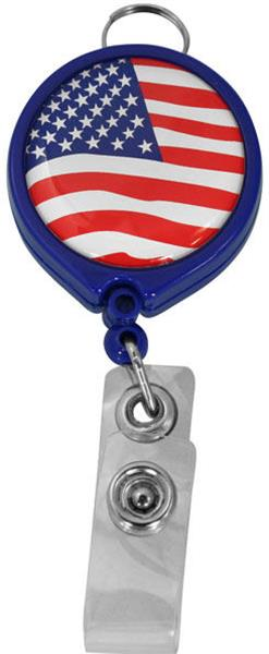 U.S.A Flag Retractable Badge Holder
