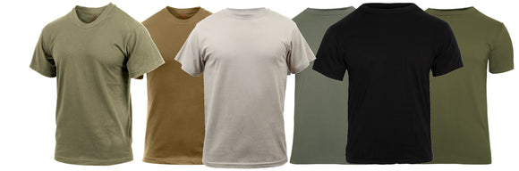 Rothco Solid Color 100% Cotton Military T-Shirt