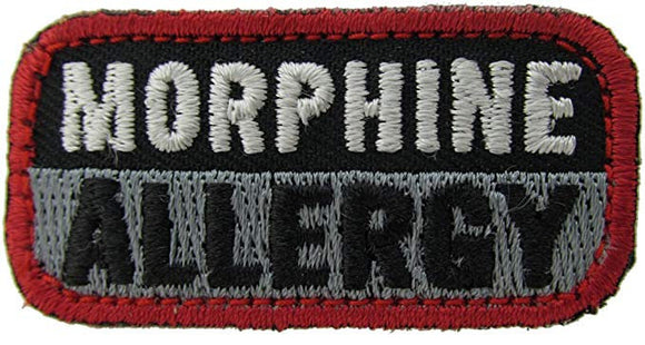 MORPHINE ALLERGY Patch - BLACK