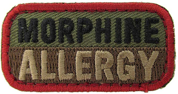 MORPHINE ALLERGY Patch - WOODLAND