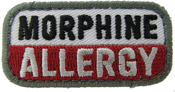 MORPHINE ALLERGY Patch - MEDICAL