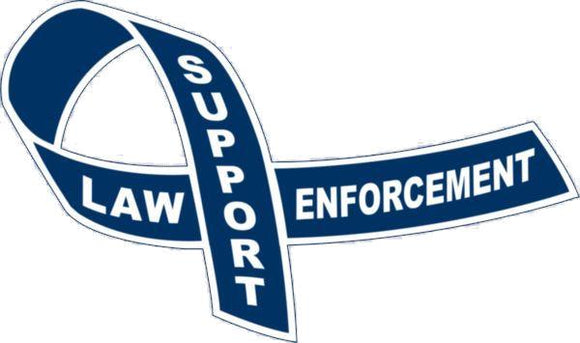 Law Enforcement Support Ribbon Magnet