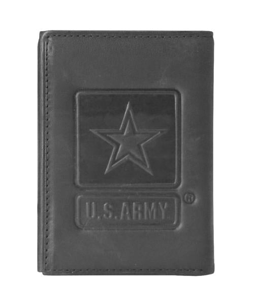 Army Star Tri-Fold Leather Wallet