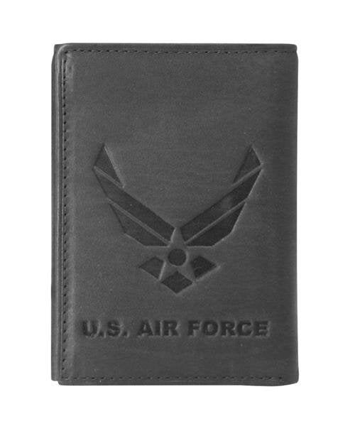 U.S. Air Force Wing Logo Tri-Fold Leather Wallet