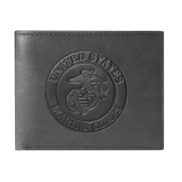 U.S. Marine Corps EGA Bi-Fold Leather Wallet