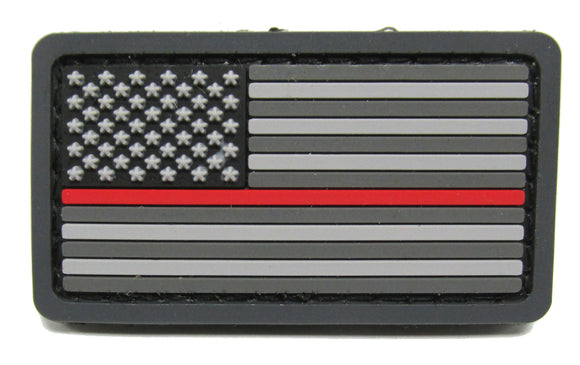 MINI Thin Red Line U.S. Flag Patch PVC - Hook Fastener