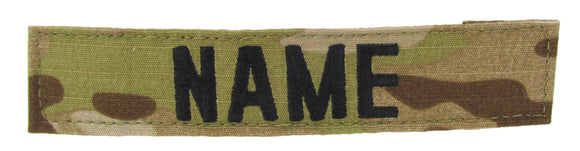 Multicam Arid Name Tape with Hook Fastener - Fabric Material