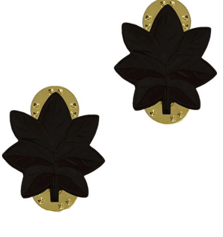Commander - U.S. Navy Black Metal Pin-On Rank