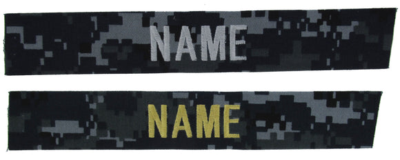 U.S. Navy Blue Camo NWU I Name Tapes
