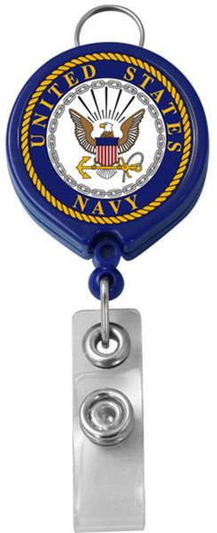 U.S. Navy Retractable Badge Holder