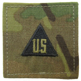 U.S. Army OCP Rank Insignia - 2x2 with HOOK Fastener