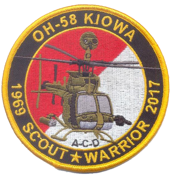 OH-58 Kiowa Commemorative USMC Patch - 1969 Scout Warrior 2017