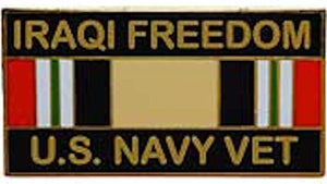 Iraqi Freedom U.S. Navy Veteran Pin