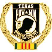 Texas Vietnam Veteran POW Hat Pin