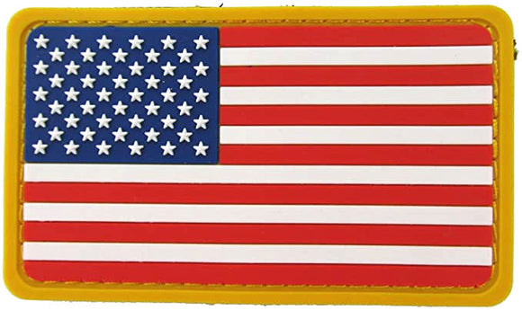 U.S. Flag Patch PVC with Hook Fastener