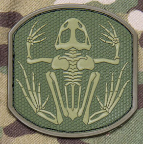 Frog Skeleton Morale Patch PVC - Mil-Spec Monkey