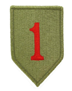 "1st Infantry Division OCP Patch with RED ""1"" - Scorpion W2"