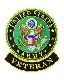 US Army Veteran Logo 12 inch Patch