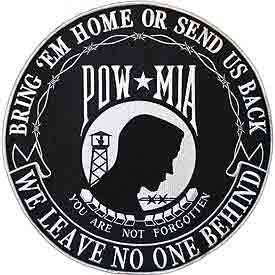 POW-MIA Bring Em Home or Send Us Back - Large 12 Inch Patch
