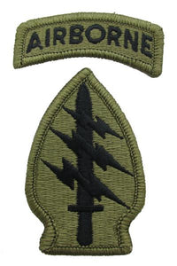 Special Forces Group MultiCam  OCP Patch with Airborne Tab