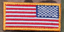Mini U.S. Flag Patch Reverse Field - Mil-Spec Monkey