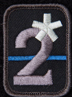 2 Assterisk Patch - 2 Asses to Risk K9 Thin Blue Line Morale Patch