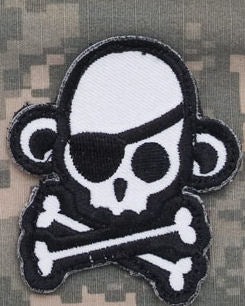 Skull Monkey Pirate Morale Patch - Mil-Spec Monkey