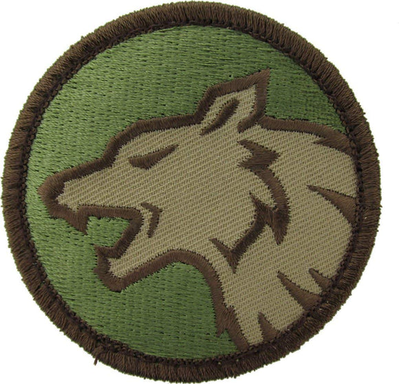 Wolf Head Patch - Hook Fastener