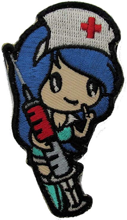 Nurse Girl Morale Patch - Hook Fastener