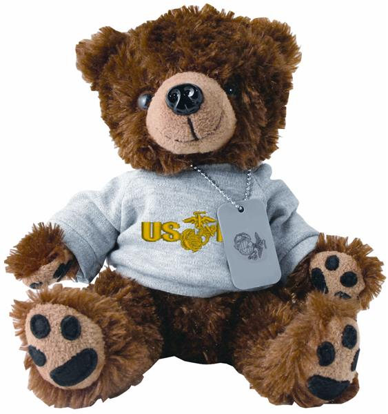 USMC PT Uniform Military Teddy Bear with Dog Tag