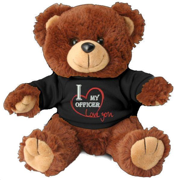 I Heart My Officer Teddy Bear - Police Support Stuffed Animal