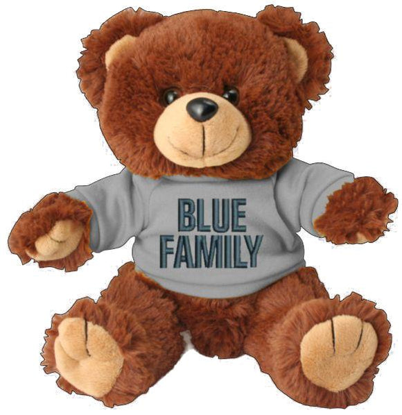 Blue Family Teddy Bear - Police Support Stuffed Animal