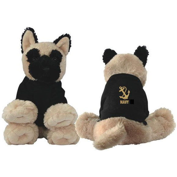 NAVY Anchor Stuffed Plush Dog