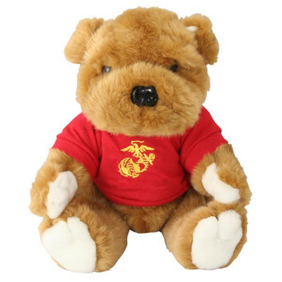 USMC EGA Logo Stuffed Plush Dog - RED Shirt