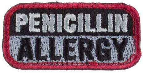 PENICILLIN ALLERGY Patch - BLACK